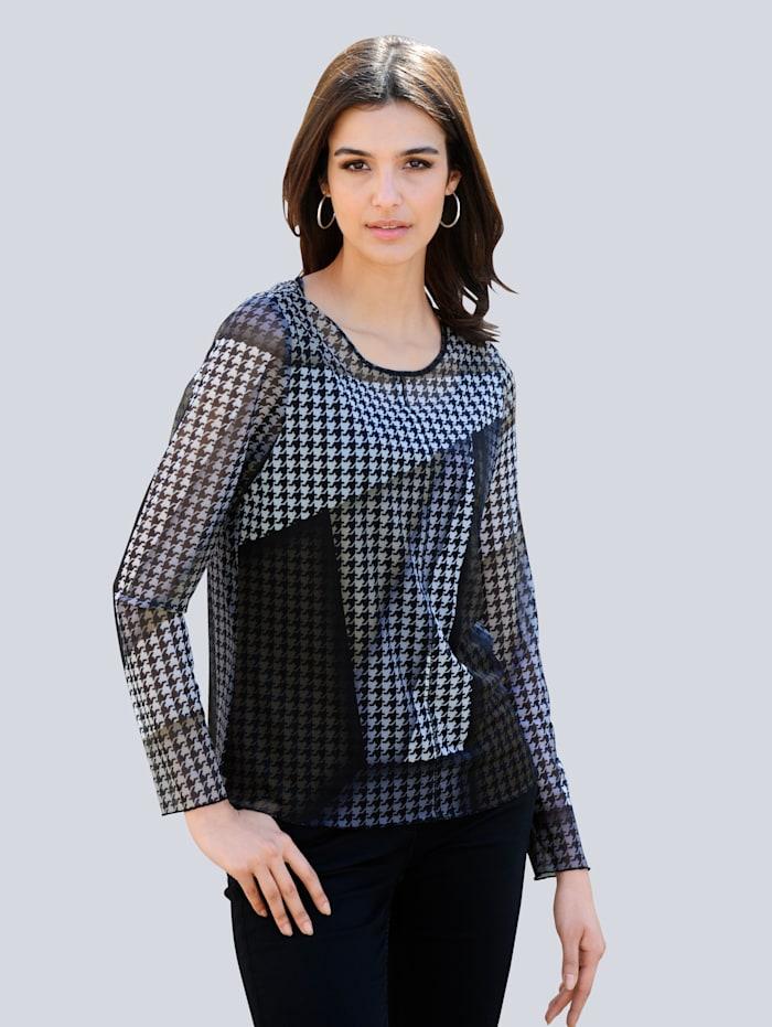 Alba Moda Shirt mit exklusivem Dessin von Alba Moda, Grau/Khaki