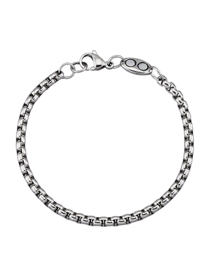 Magnetic Balance Ankerarmband, Zilverkleur