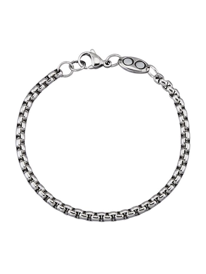 Magnetic Balance Bracelet maille jaseron en acier inoxydable, Coloris argent