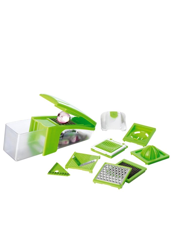 GOURMETmaxx GOURMETMaxx 8-in-1-multisnijder, groen