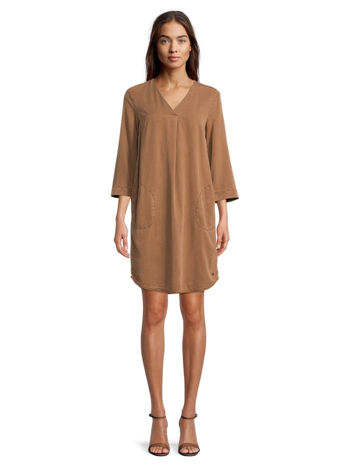 Betty & Co Casual-Kleid unifarben, Toffee