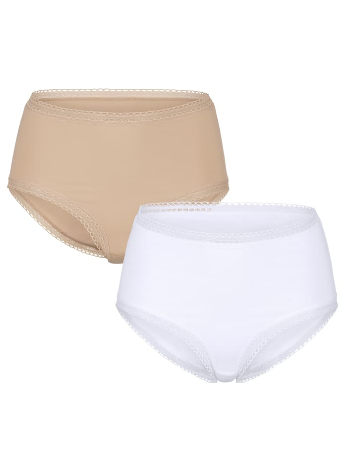 "Blue Moon Culottes en coton issu de l'initiative ""Cotton made in Africa"", Nude/Blanc"
