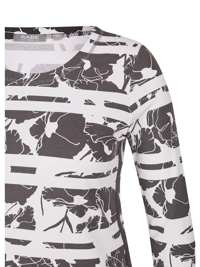 Shirt mit Rundhals und floralem Muster