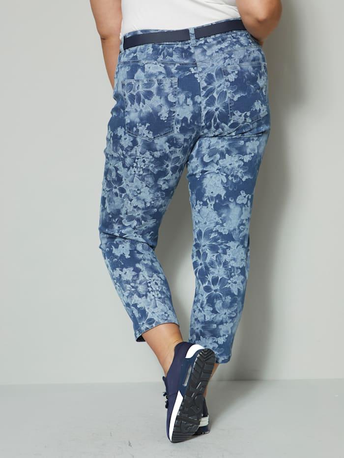 Jeans med blomstermønster