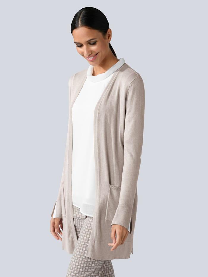 Alba Moda Vest in modieus lang model, Camel