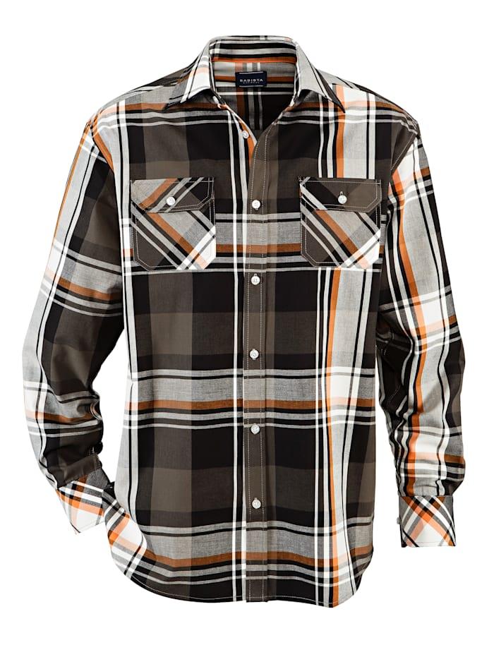 BABISTA Overhemd, Olijf/Oranje