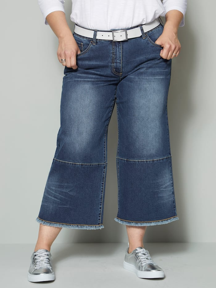 Angel of Style Jeans-Culotte bequem zu tragen, Blau