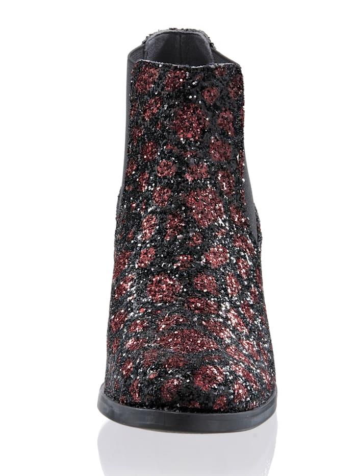 Chelsea-Boot in stylisher Glitter-Optik