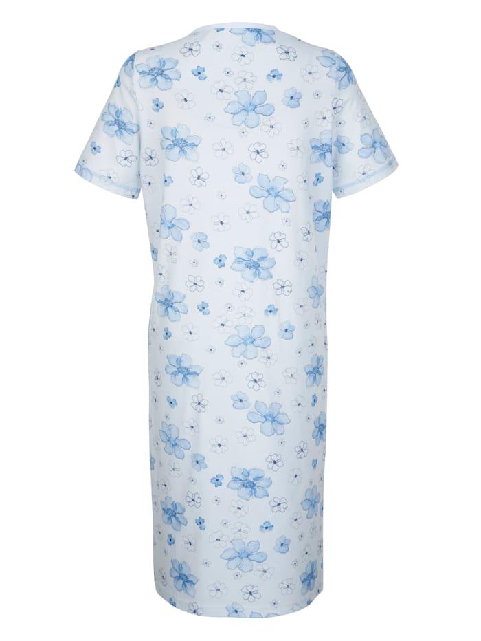 Nachthemden mit dekorativen Kontraststeppungen