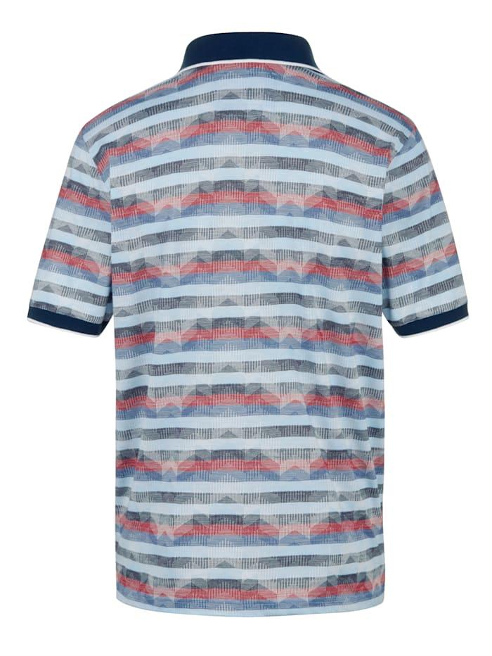 Poloshirt mit aufwändigem Jacquard-Muster rundum