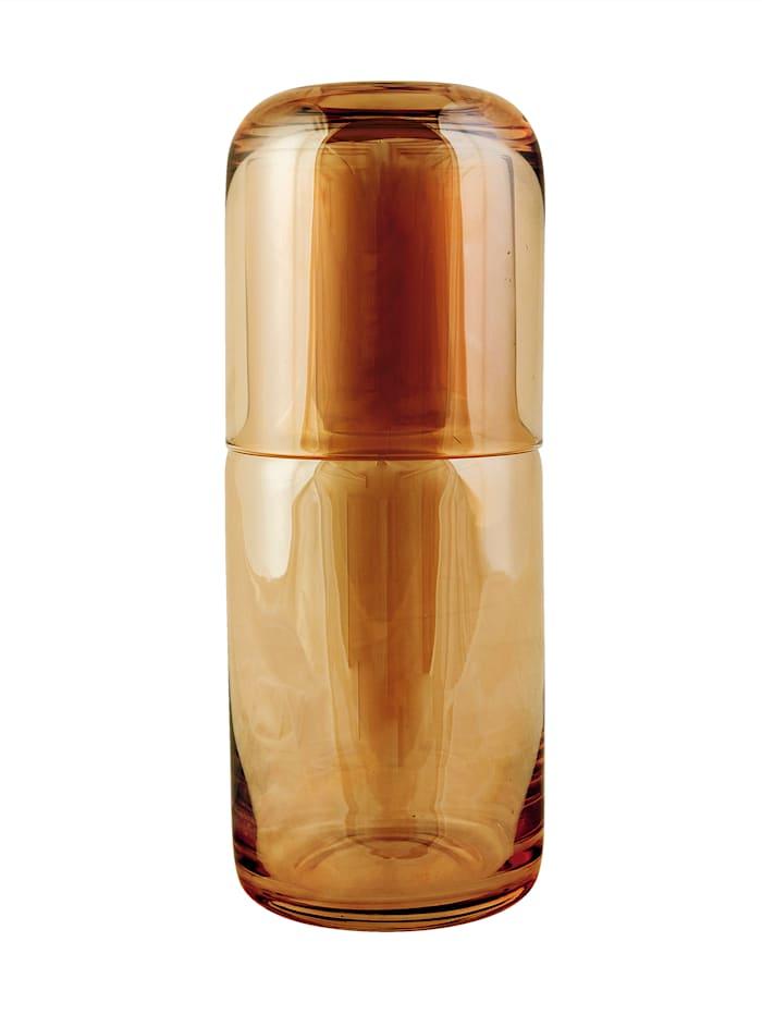 IMPRESSIONEN living Nachtflasche mit Glas, bernsteinfarben
