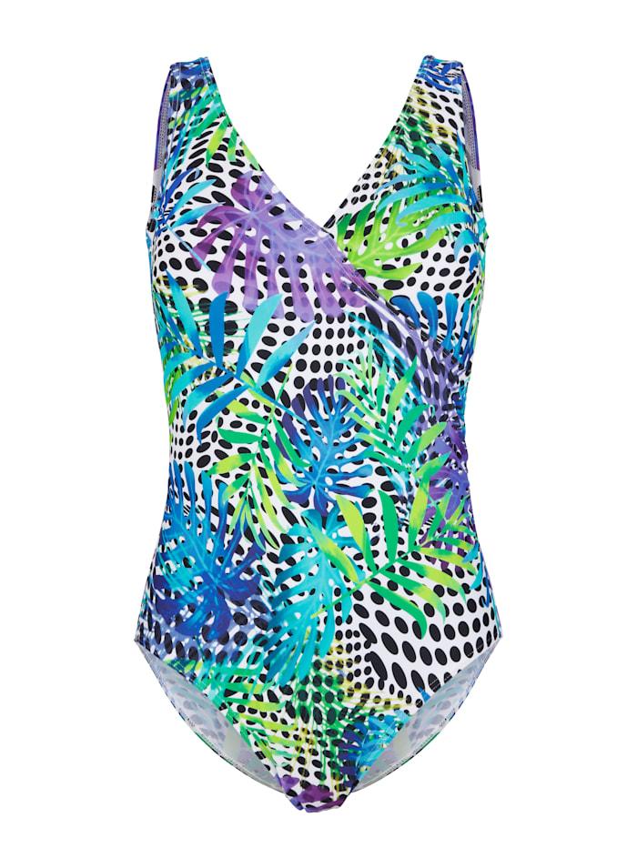 Maritim Badpak met trendy mix van prints, Blauw/Turquoise/Paars