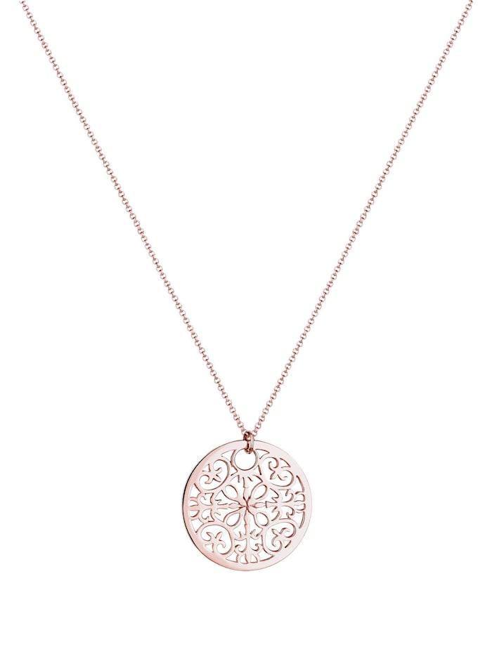 Halskette Münze Boho Ornament 925 Sterling Silber
