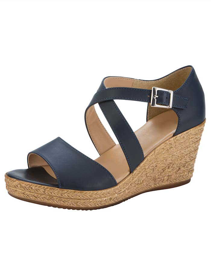 Sandaletter med kilklack, Marinblå