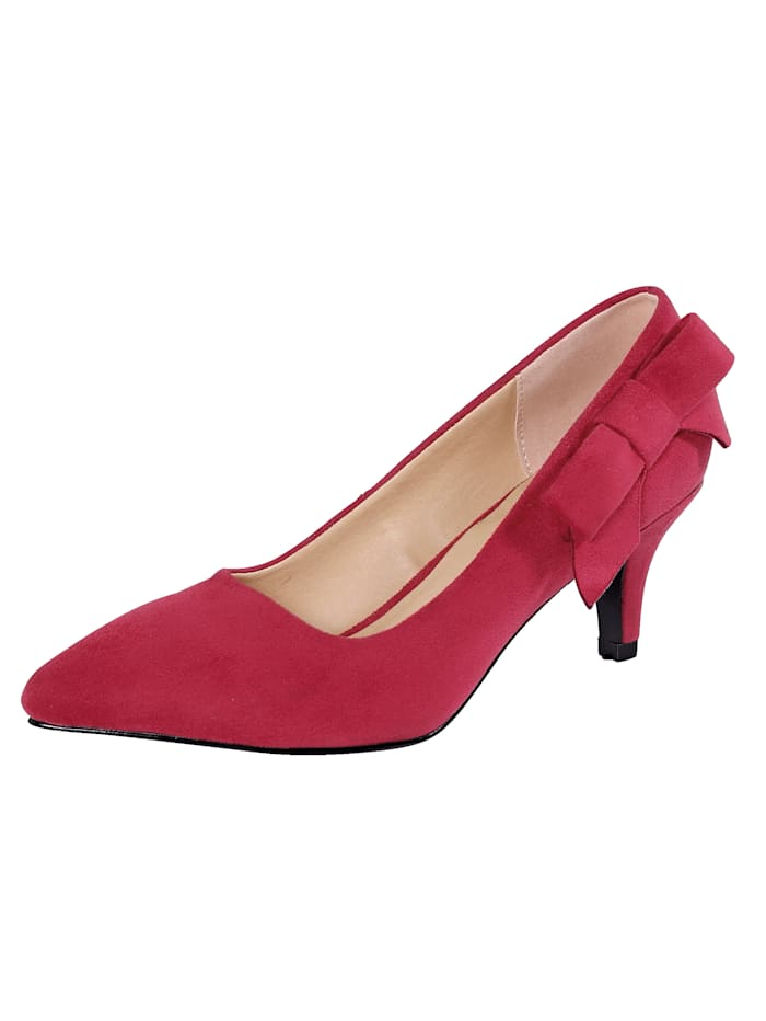 Liva Loop Pumps in spitzer Silhouette, Rot