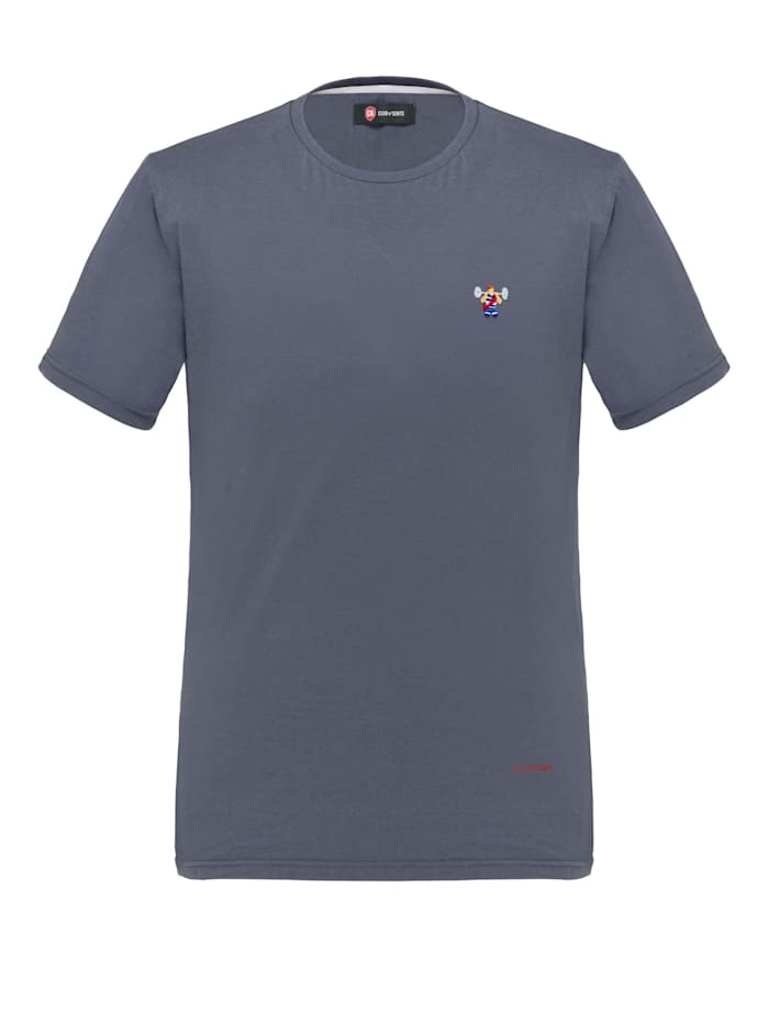 Club of Gents Shirt CG Bence mit Stickerei, Blau
