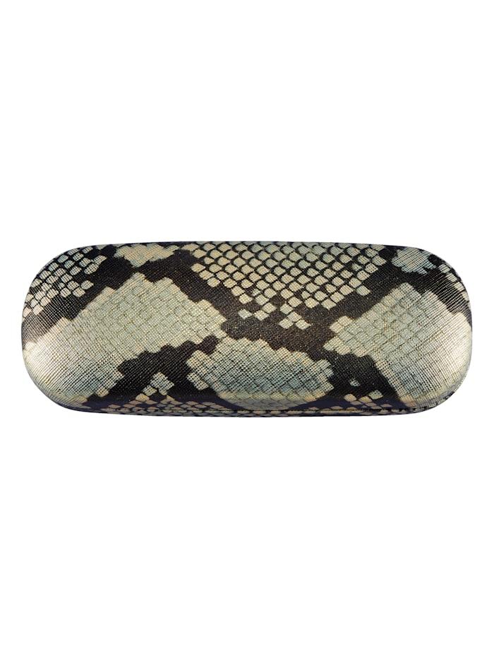 Brillenetui Snake, Beige