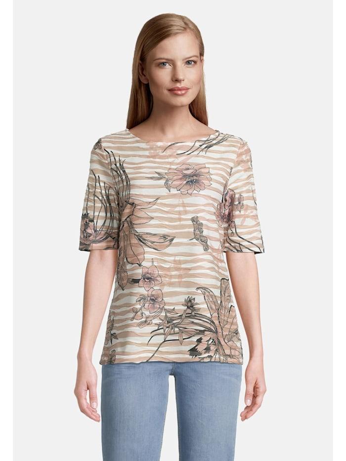 Betty Barclay Printshirt mit Wellenstruktur, Beige
