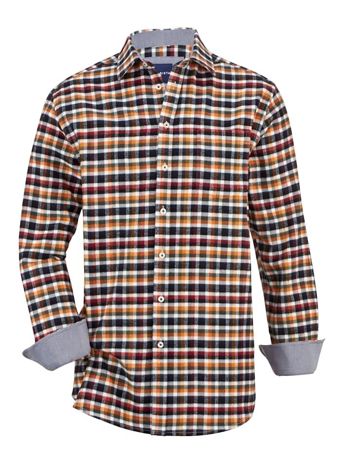 BABISTA Flanellhemd in winterlichen Farben, Weiß/Marineblau/Orange/Rot/Grün