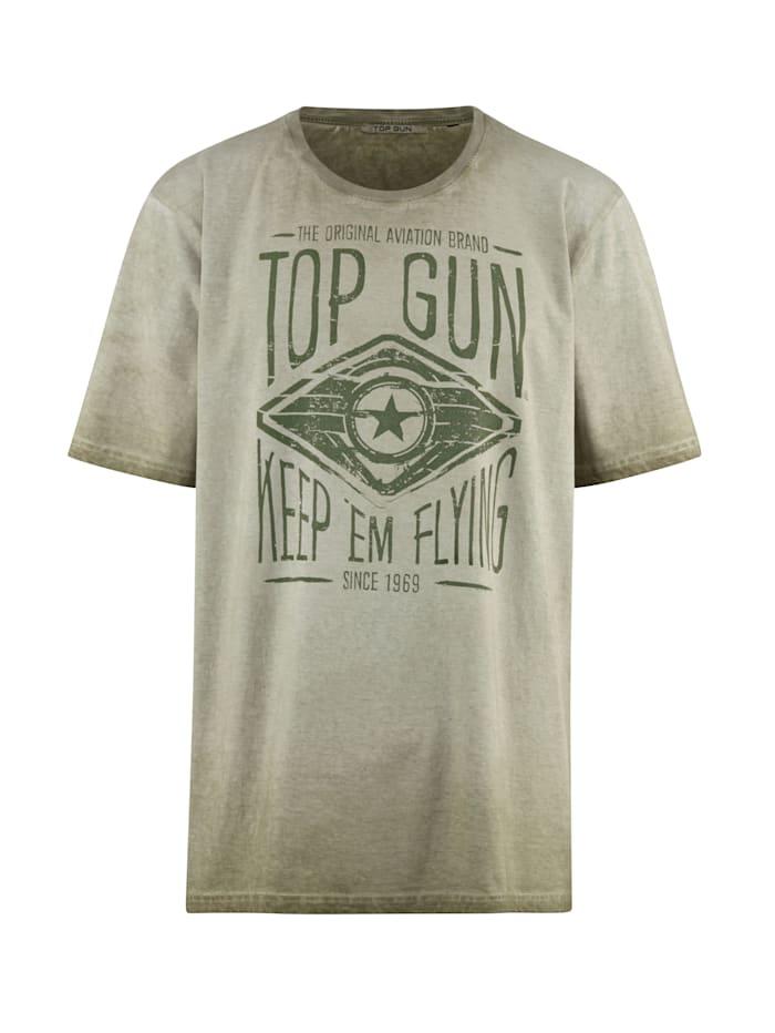 Top Gun T-shirt van zuiver katoen, Beige