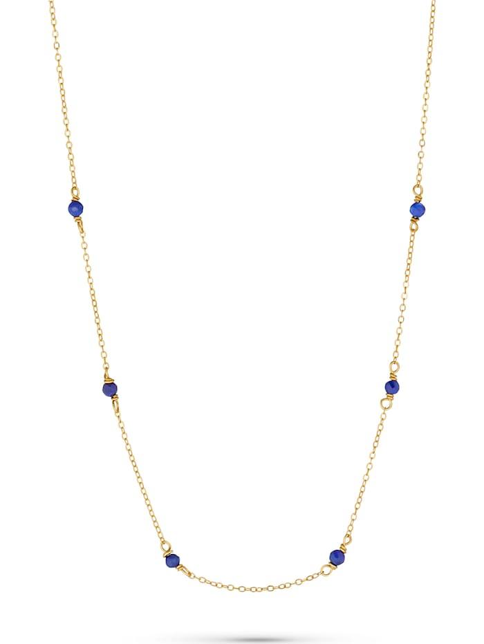 CHRIST C-Collection CHRIST Damen-Kette 375er Gelbgold 6 Lapis, blau
