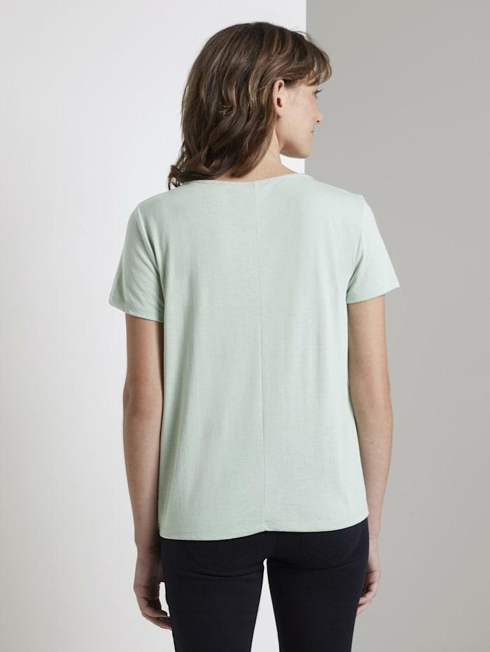 Schlichtes T-Shirt mit Knotendetail