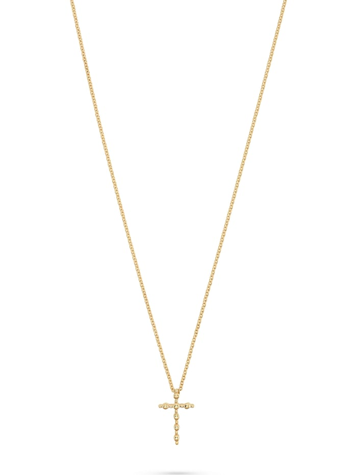 CHRIST C-Collection CHRIST Damen-Kette Collier Kreuz, gelbgold