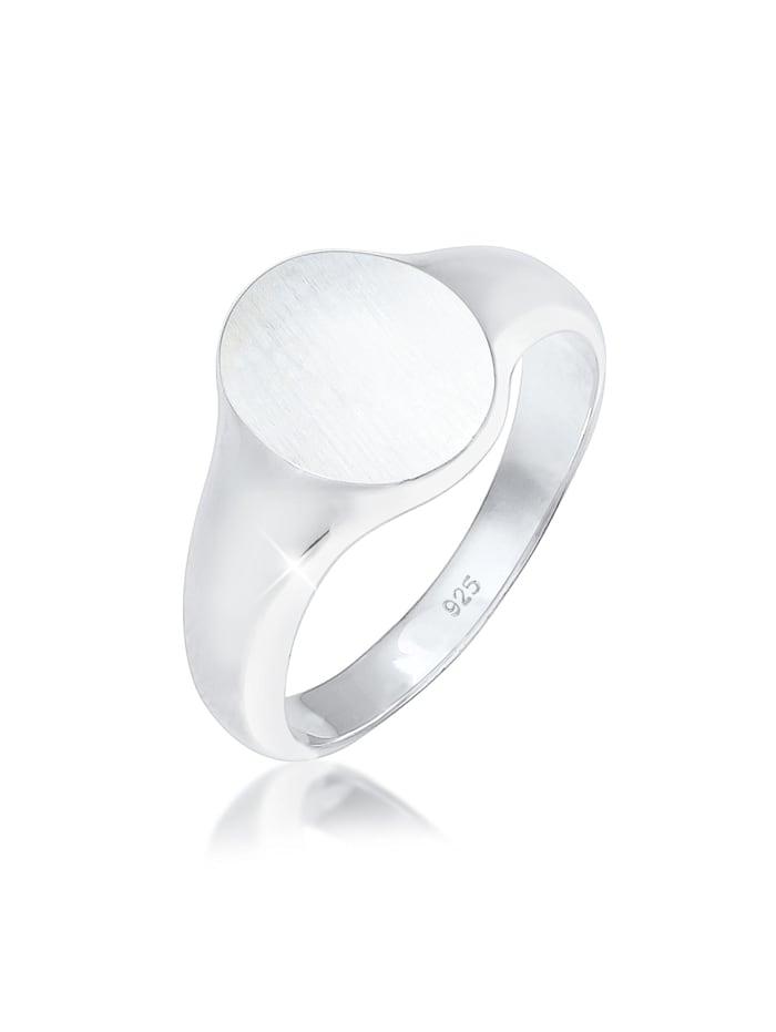 Kuzzoi Ring Basic Cool Siegelring Herren Matt 925 Silber, Silber