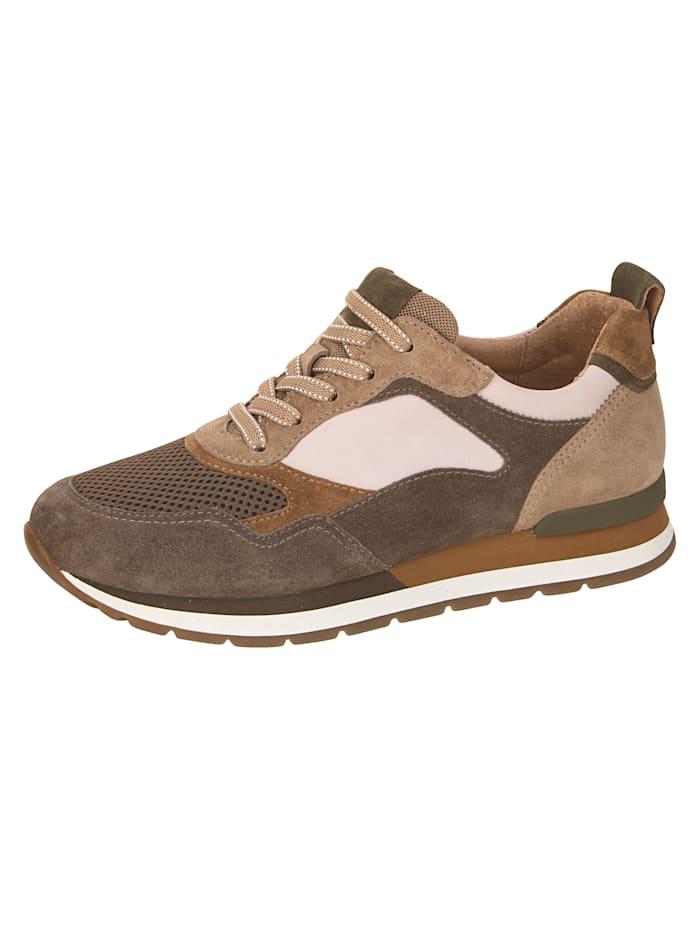 Gabor Sneaker in harmonieuze kleuren, Zand/Bruin
