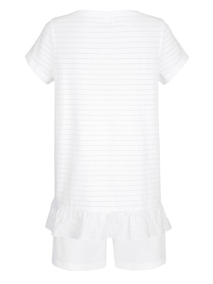 Pyjamas med volang i nederkant