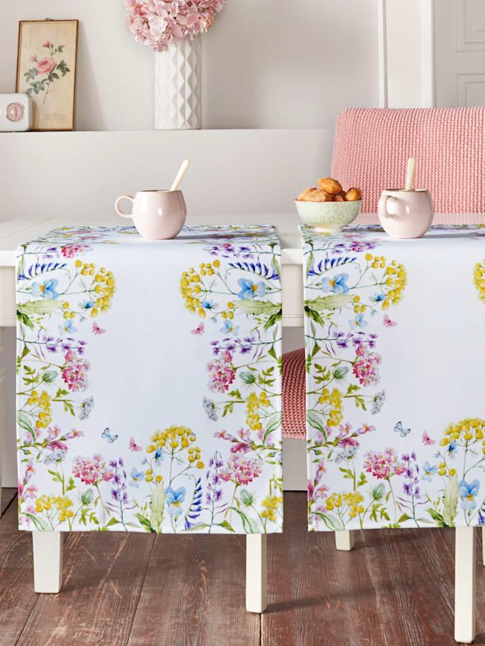 Webschatz Tischwäsche 'Frida', weiß/bunt