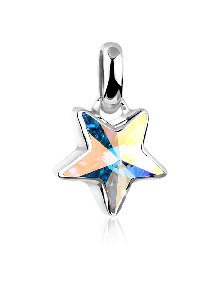 Nenalina Anhänger Stern Astro Symbol Kristalle 925 Silber, Silber