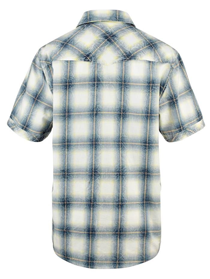 Košeľa s módnym crinkle efektom