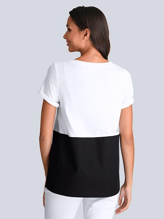 Shirt im Colorblocking Dessin