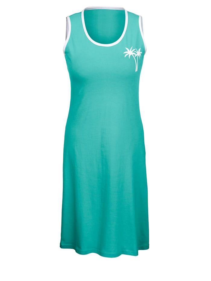 Plážové šaty s dekorativním kontrastním lemováním