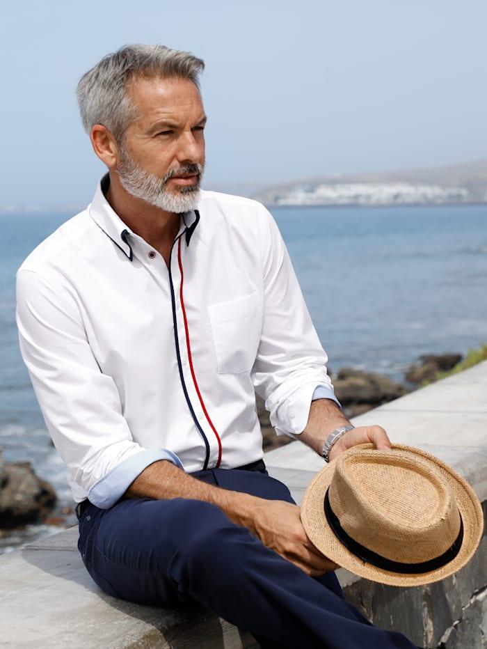 BABISTA Overhemd met dubbele kraagin button-downstijl, Wit