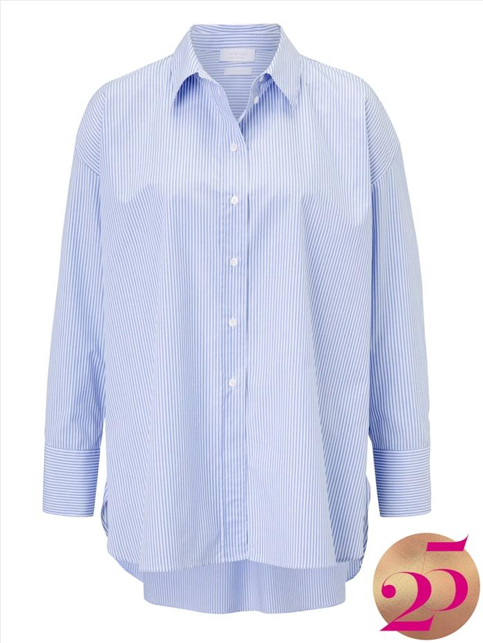 rich&royal Hemdbluse aus Baumwolle, Jubiläumskollektion, Hellblau