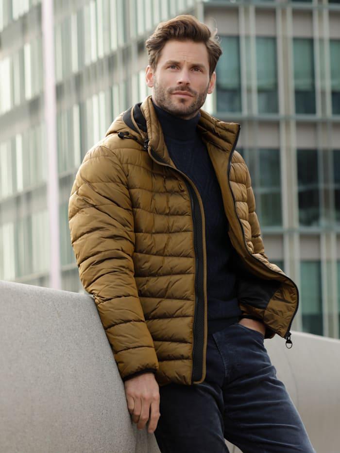 BABISTA Gewatteerde jas in een bijzondere kleur, Bronskleur