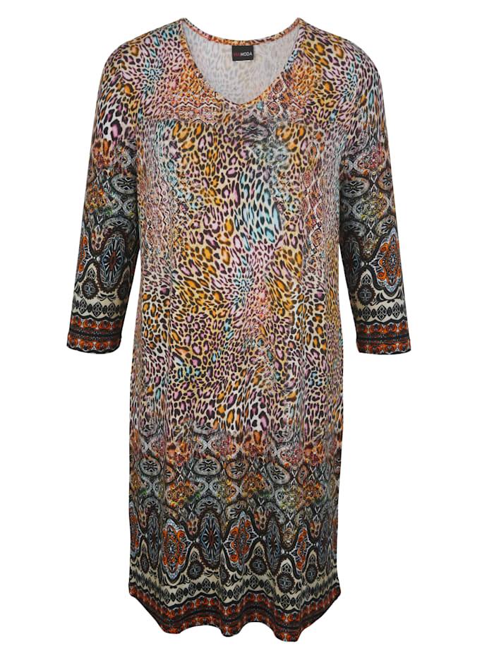 MIAMODA Longshirt Met flatterende V-hals, Multicolor