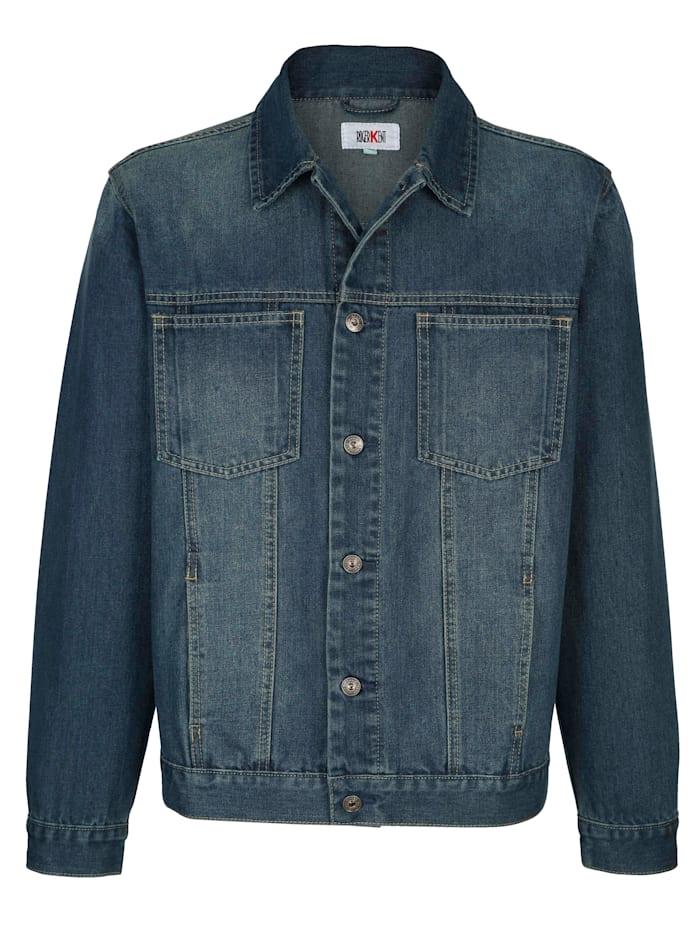 Roger Kent Veste en jean en matière facile d'entretien, Dark blue