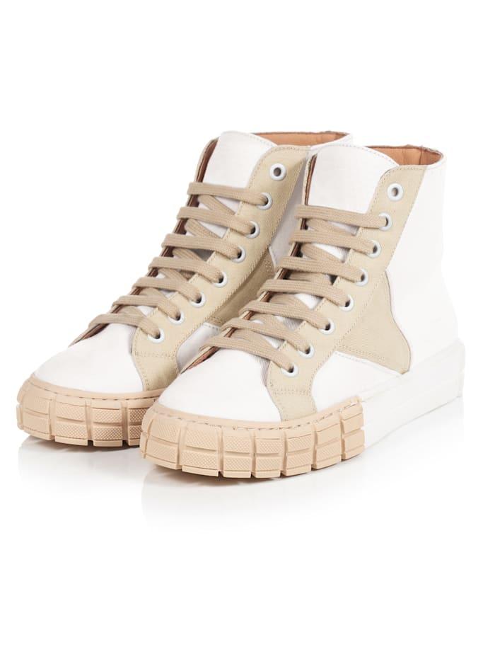 REKEN MAAR Hightop-Sneaker, Weiß