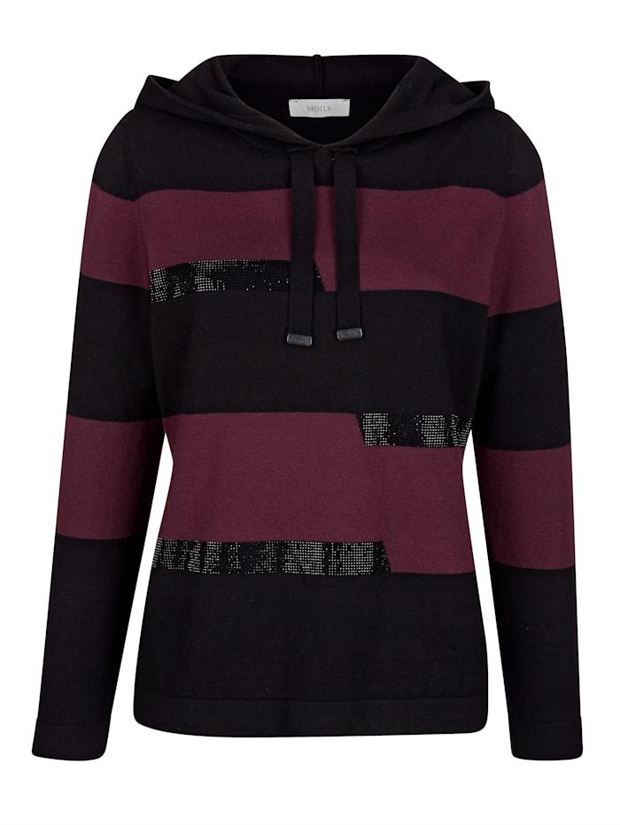 Pullover mit platziert gestricktem Ringel
