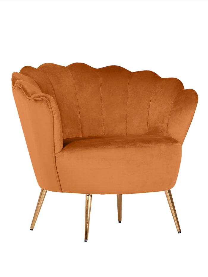 TopHome Sessel Gatsby, Goldfarben/Terracotta