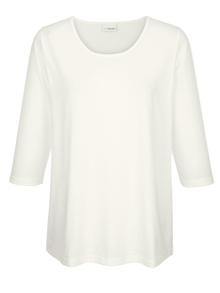 MIAMODA Shirt in kort model, Offwhite