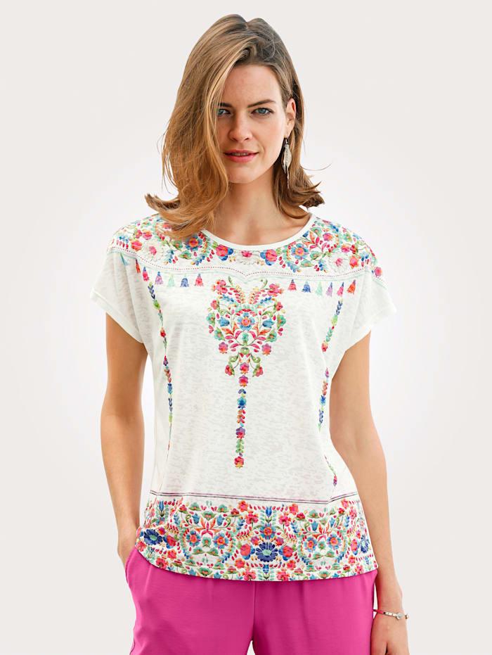 Värikkäästi kuvioitu paita