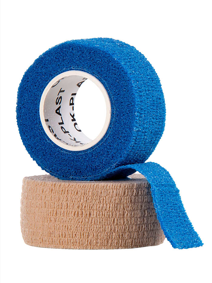 GoForm OK-Plast zelfklevend verbandgaas 2 stuks, huidkleur en blauw