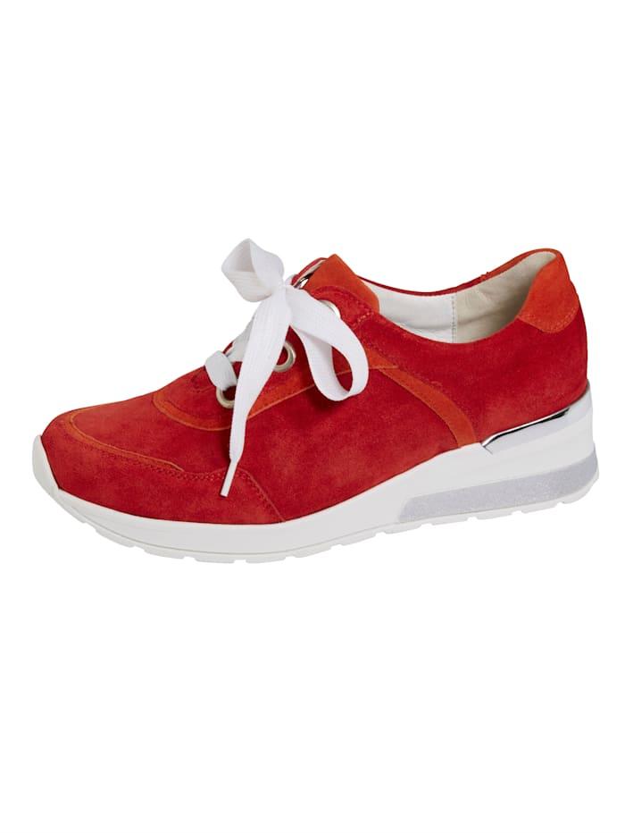 Waldläufer Šněrovací boty podrážka se vzduchovým polštářkem, Červená