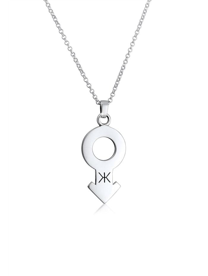 Kuzzoi Halskette Herren Erbskette Männlich Symbol Trend 925 Silber, Silber