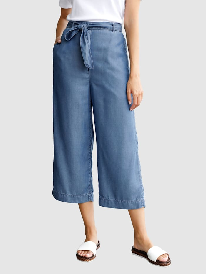Laura Kent Jupe-culotte en Tencel, Blue bleached