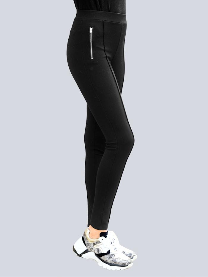 Alba Moda Legging aus elastischer Jerseyqualität, Schwarz